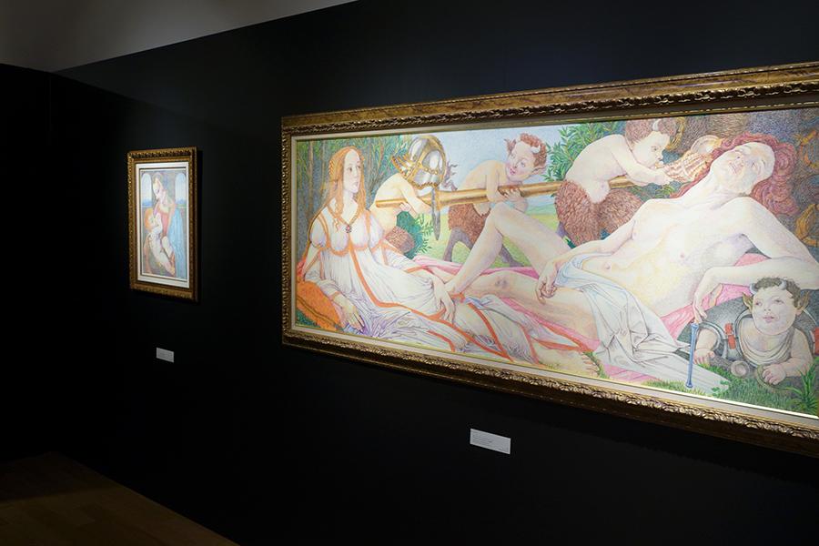 ボッティチェリへのオマージュ「Venus & Mars」の模写は、2019年にボールペンで描いた作品