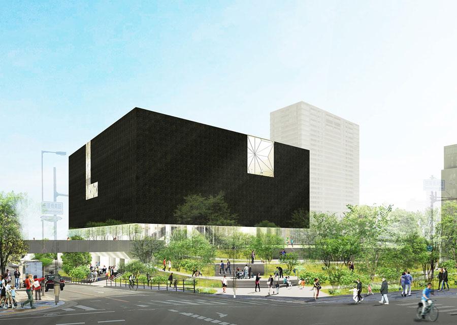 2021年度オープン予定の「大阪中之島美術館」外観イメージ