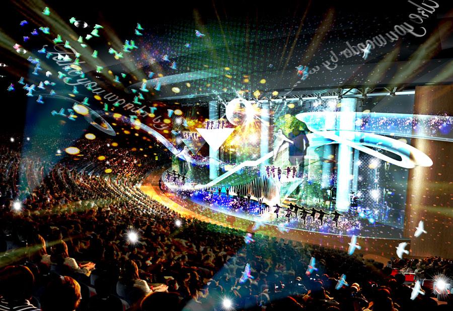 世界最高峰のショーや一流アーティストのコンサート、国際的なスポーツイベントなどを開催できるシアターやアリーナなど 提供:大阪府・大阪市IR推進局