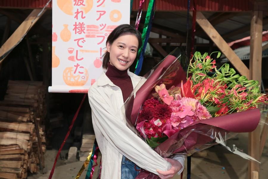 「自分にとって財産となる時間を過ごすことができました。笑顔で支えてくれたスタッフのみなさんに感謝です」と戸田恵梨香(2月29日/提供:NHK大阪)