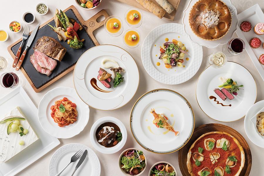カフェレストランのアンサンブルでは和洋中のメニューと、かわいらしさを追求したデザートを提供予定