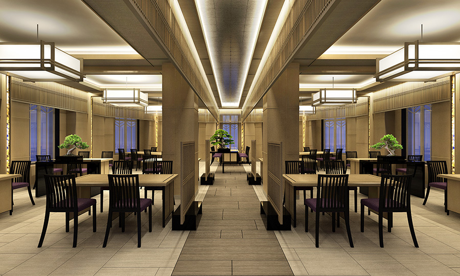 日本料理の彩羽。個室も3室あり