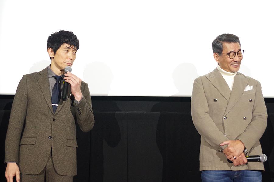 佐々木は、「京都で愛していただければ幸いです」と、中井は「回りの方に、隣の方に・・・町内会の回覧板を回してもらってもいい」と観客にアピール
