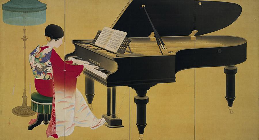 中村大三郎《ピアノ》1926年 京都市美術館蔵 ※「最初の一歩:コレクションの原点」