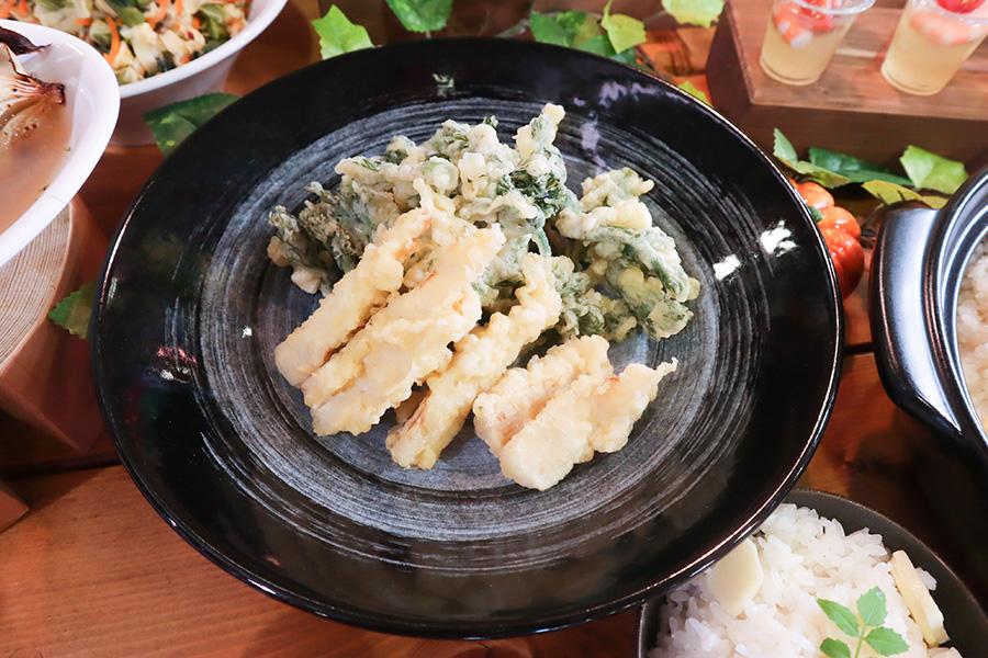 タケノコとタラの芽の天ぷら