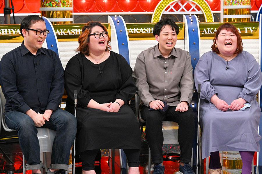 左からジョン・ソンミン、北田裕美夫妻、宮澤剛史・美代子夫妻(写真提供:MBS)