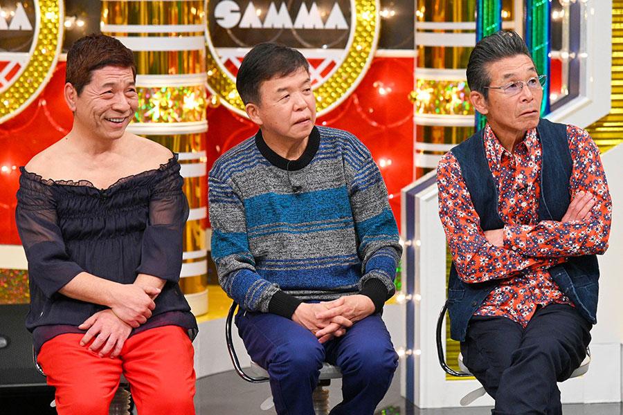 左から明石家メンバーの松尾伴内、村上ショージ、間寛平(写真提供:MBS)