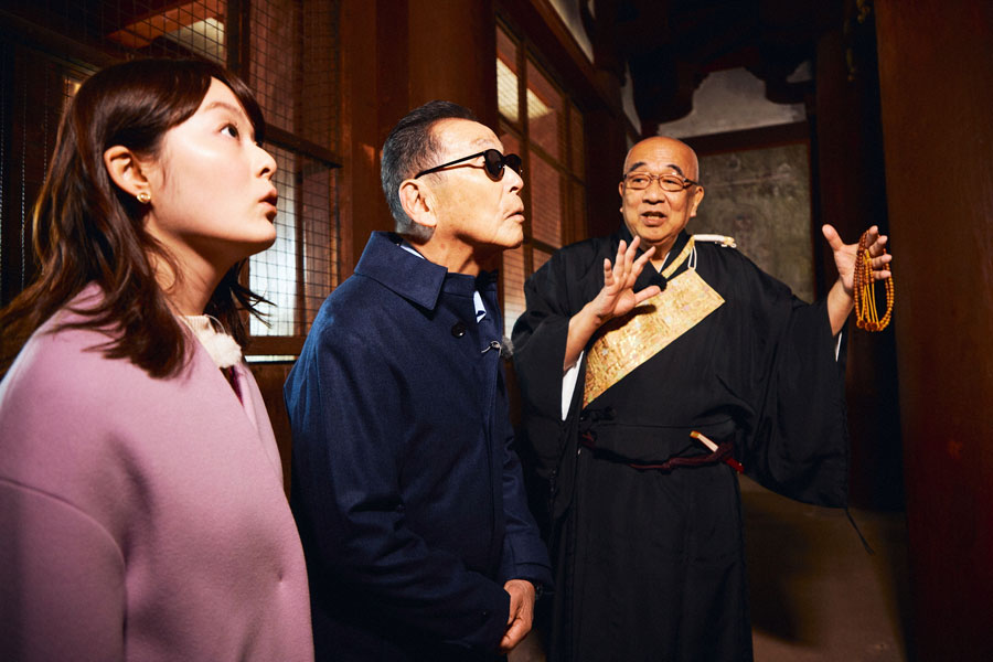 法隆寺・金堂の国宝を特別に見学することに