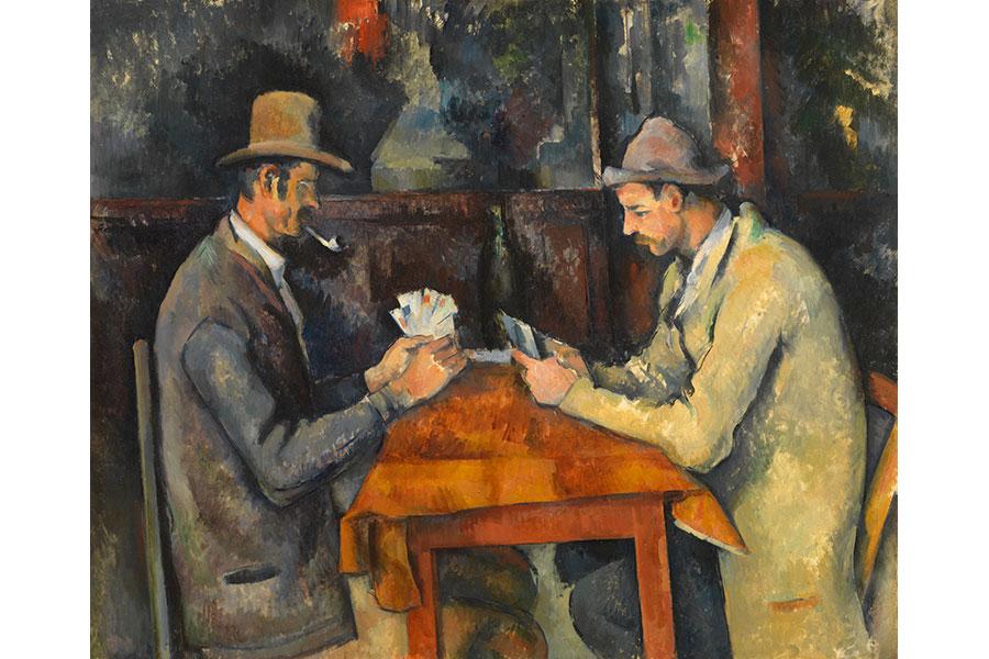 ポール・セザンヌ 《カード遊びをする人々》 1892-96年頃 コートールド美術館 © Courtauld Gallery (The Samuel Courtauld Trust)