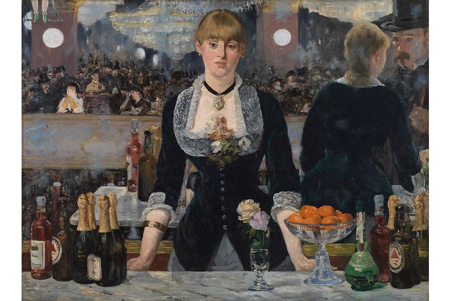 エドゥアール・マネ 《フォリー=ベルジェールのバー》 1882年 コートールド美術館 © Courtauld Gallery (The Samuel Courtauld Trust)