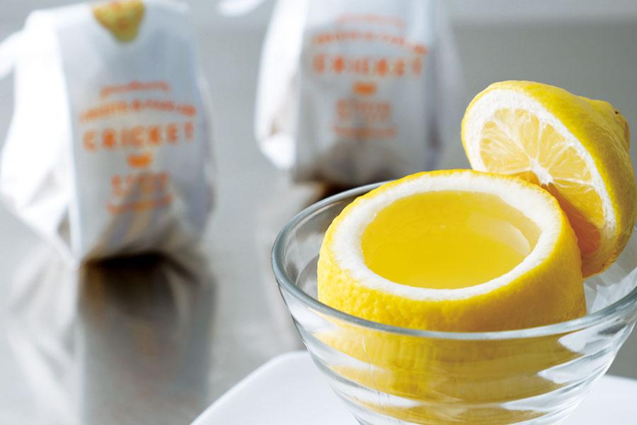「フルーツパーラー クリケット」のレモンゼリー。3個セット・2100円