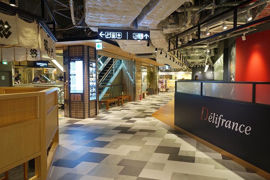 駅からアクセスしやすいように、3・4階の西館が飲食フロアに