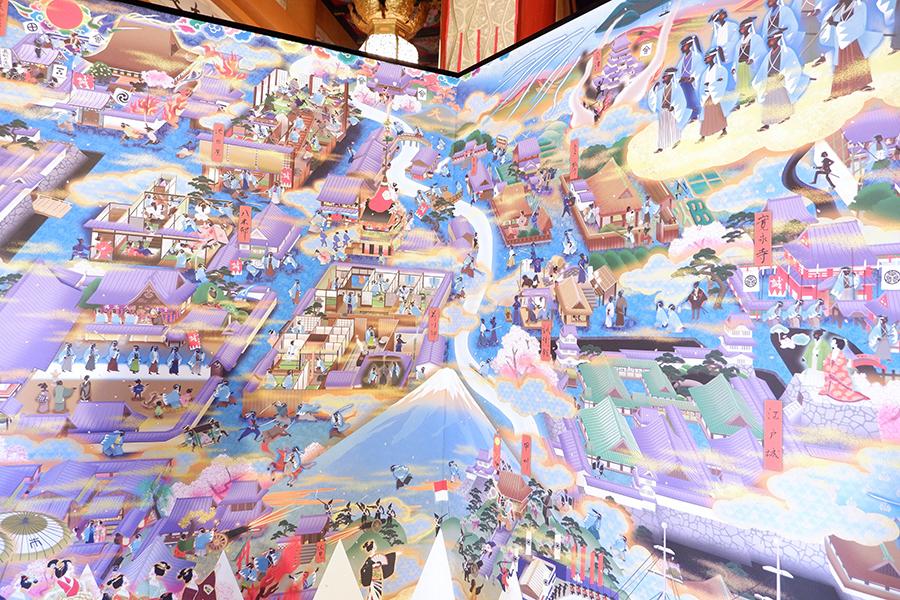 だるま商店は、京都を拠点とする絵描きユニットで、随心院(山科)、妙心寺春光院の襖絵なども手がける