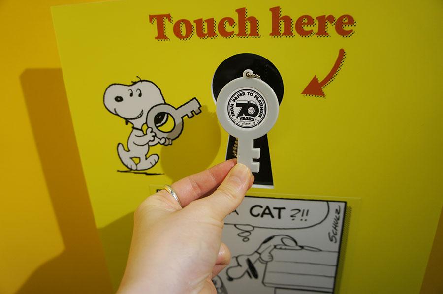 入り口で受け取る鍵は、持ち帰ってキーホルダーとして使用することもできる