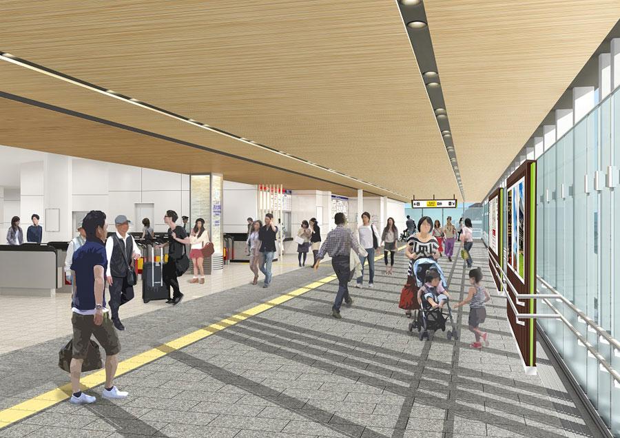 開かずの踏切を解消、奈良・大和西大寺駅に新通路が開通