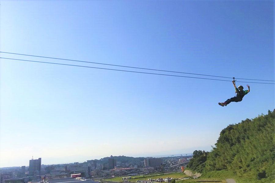 彦根の景色を一望できる「ひこねスカイアドベンチャー」