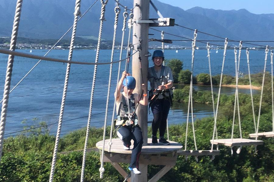 琵琶湖を臨みながら体験できる「びわこスカイアドベンチャー」