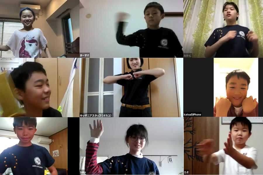 「キッザニア」がおこなうオンラインでのダンス指導の様子(画像はイメージ)