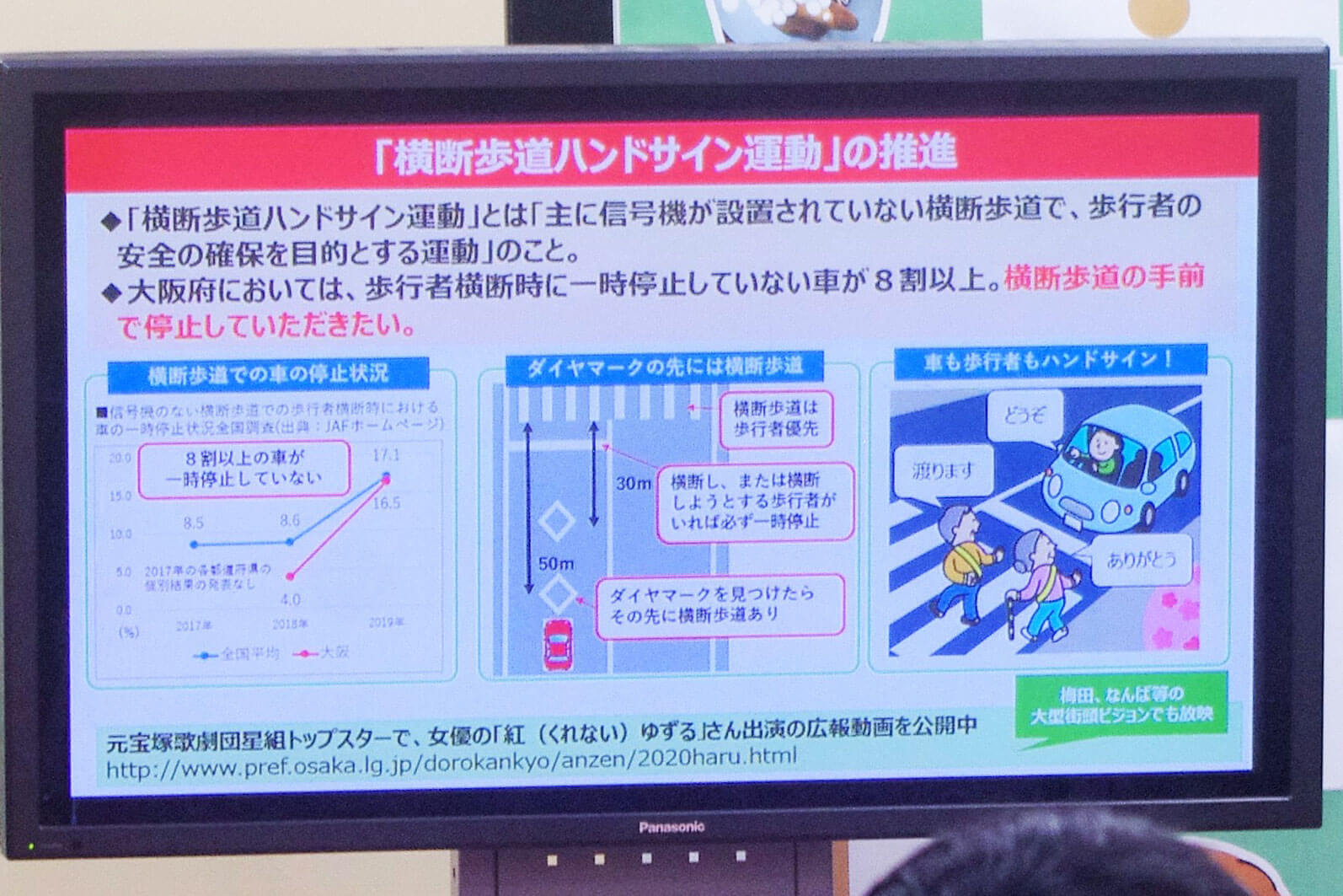 大阪府が推奨する「ハンドサイン」、府庁にも使う場所が
