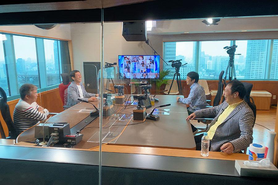 明石家さんま、村上ショージ、中川家がラジオスタジオから出演(写真提供:MBS)