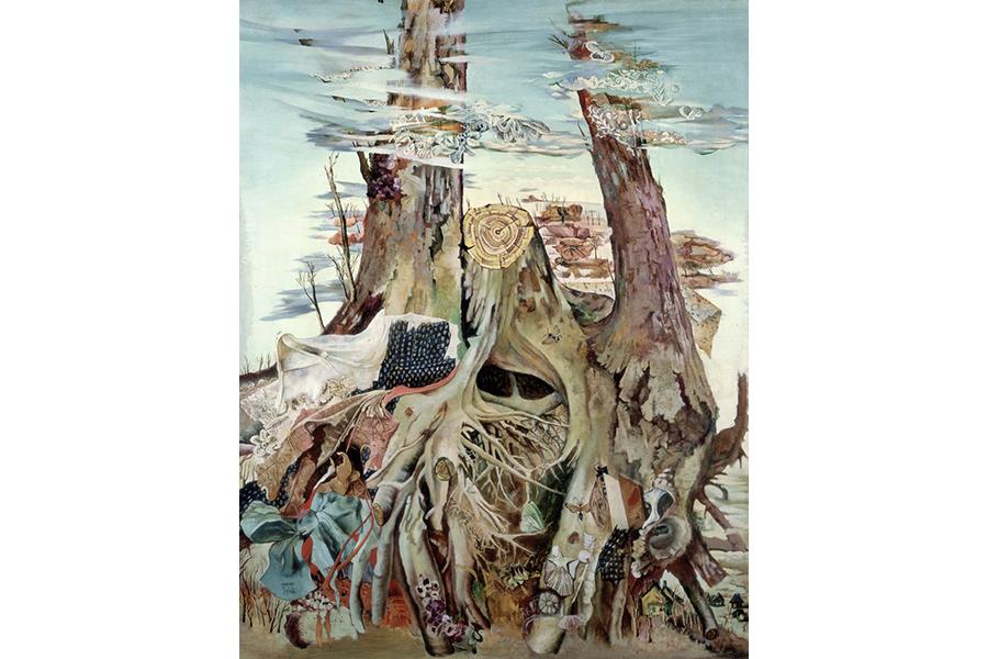 桂ゆき《大きな木》1946年 116.2×89.7cm 油彩・カンヴァス 奈良県立美術館蔵 03