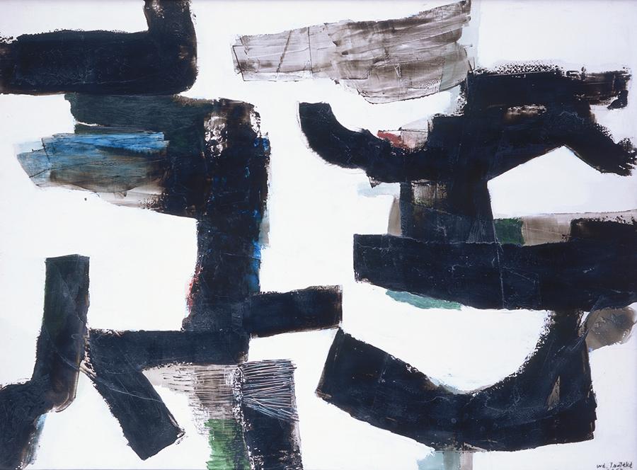 津高和一《対話》1958年 97×130cm 油彩・カンヴァス 奈良県立美術館蔵