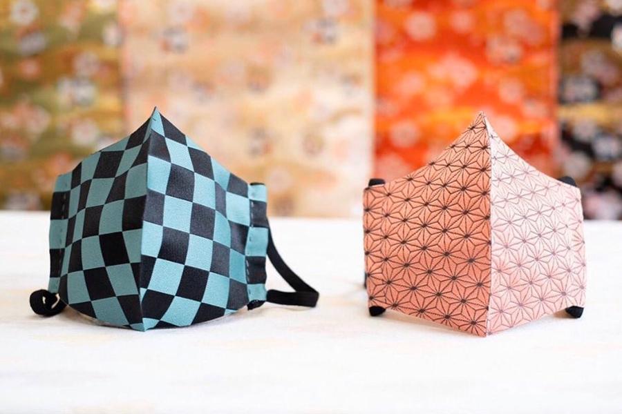 京都の生地問屋制作の和柄マスクが話題…「鬼滅」新刊発売で