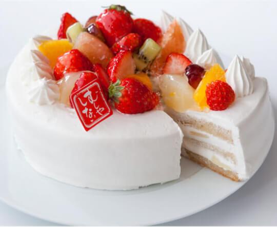 「むしやしない」のデコレーションケーキ「ミラクル*ホワイト」(4号 直径12cm 3780円・税込)