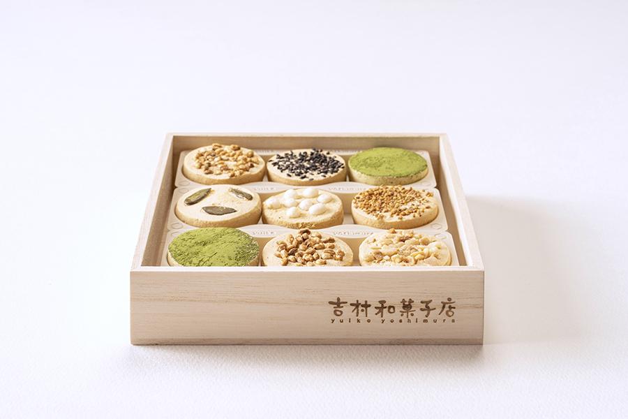 「吉村和菓子店」の焼き鳳瑞・種まき 9個箱入り 1080円