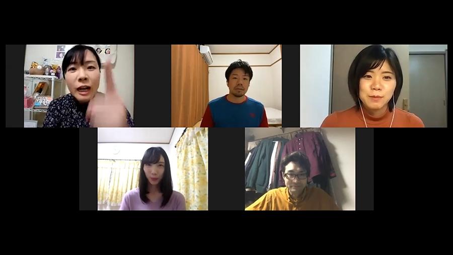 松本大樹監督『はるかのとびら』。分割画面がリモート映画の特徴のひとつ