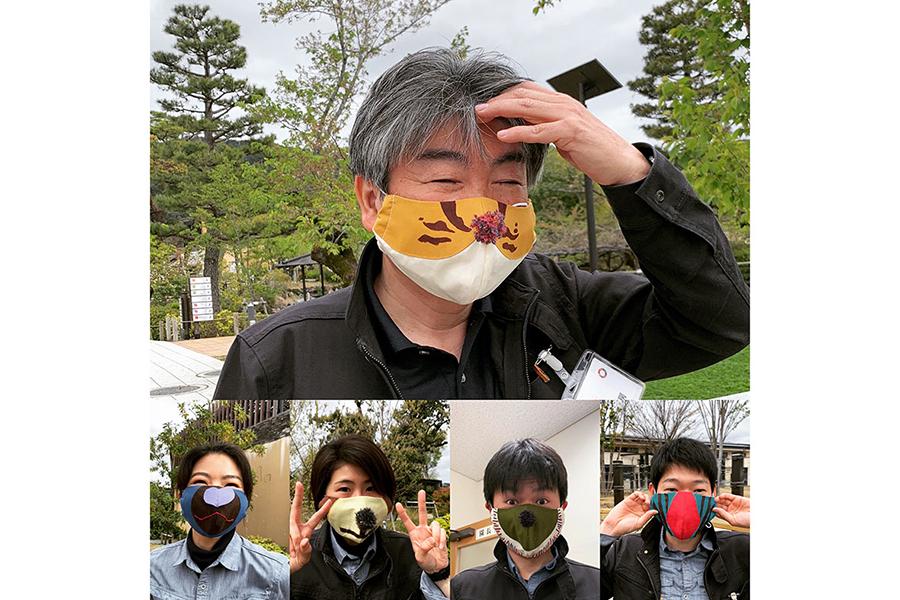 京都市動物園の坂本園長(上)と職員ら(同園インスタグラムより)