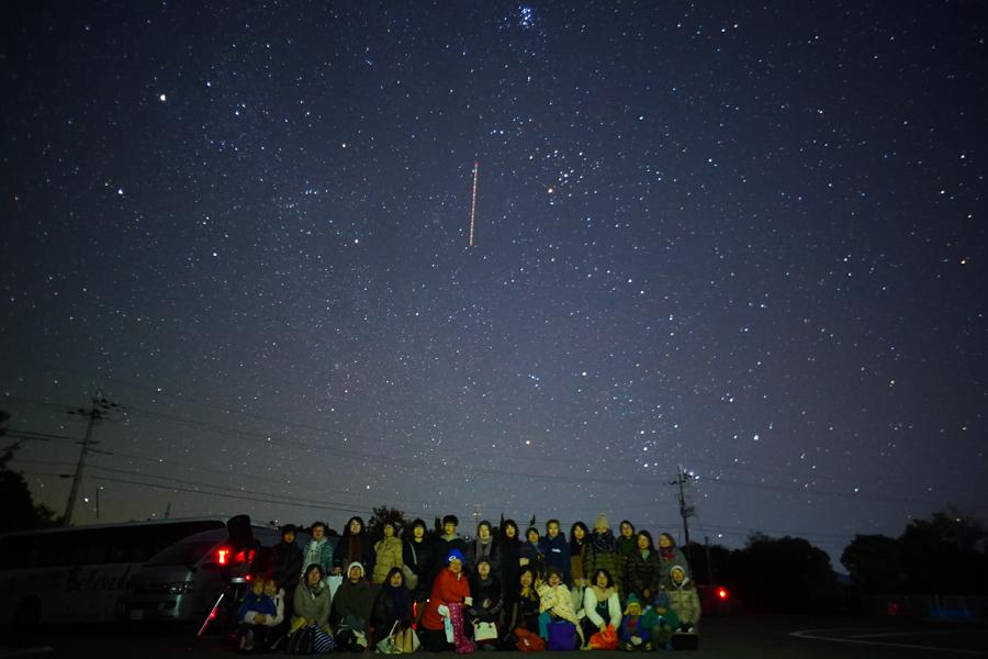 通常の星空ツアー後は全員で写真撮影