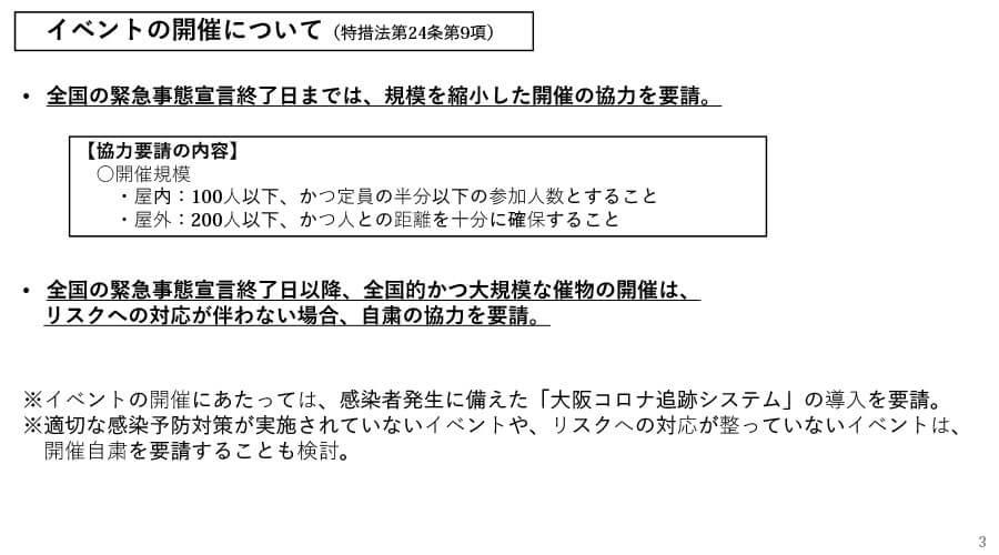 府の資料より「大阪府における感染拡大防止に向けた取組み(概要)」3