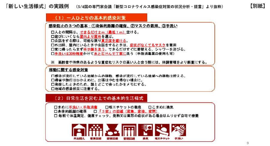 府の資料より「大阪府における感染拡大防止に向けた取組み(概要)」9