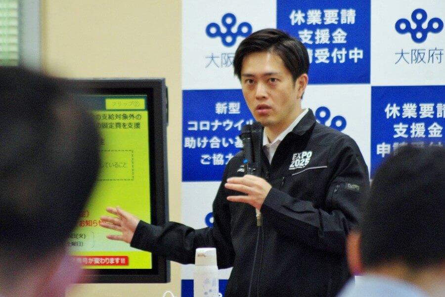 「テレビ出演自体は趣味ではなく、公務でやっている」と吉村洋文知事(5月20日・大阪府庁)