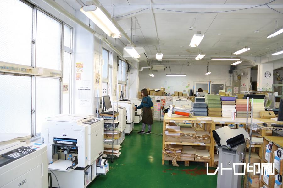 「レトロ印刷JAM」の工場