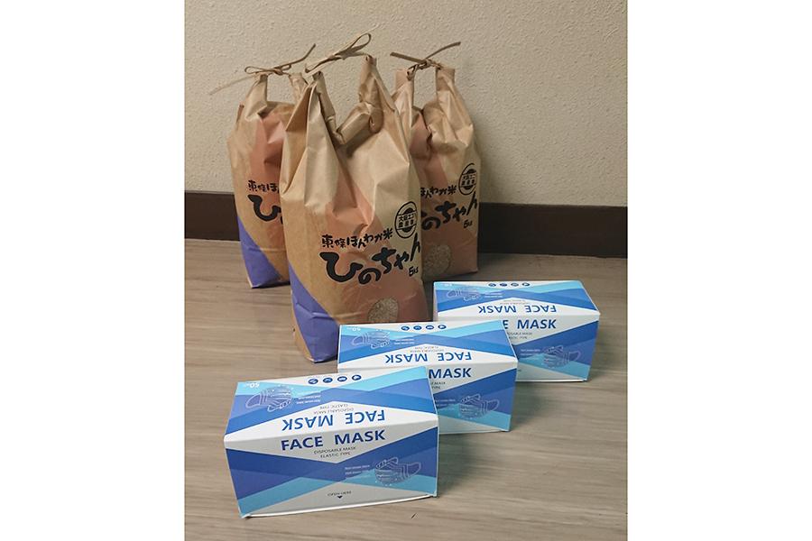 申請されてから、富田林の職員が準備していたアイテムを配送