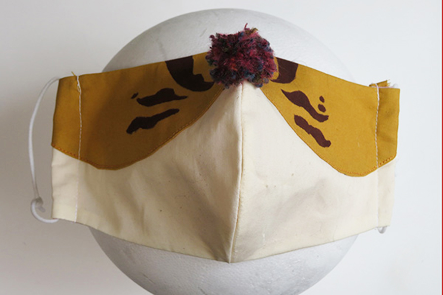 ツシマヤマネコのマスク