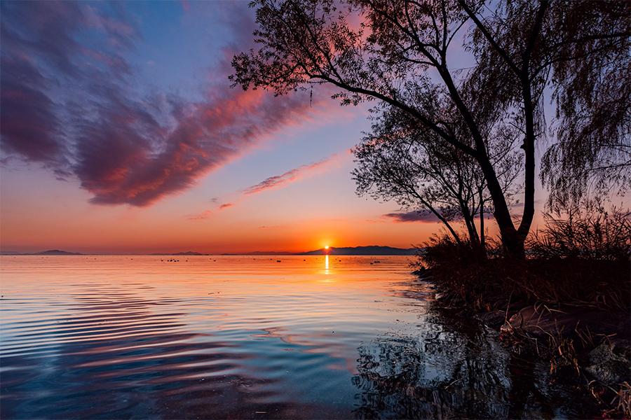水面が美しい、滋賀・琵琶湖の写真(提供:Iori Takanoさん)