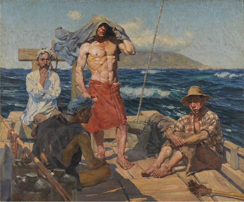 和田三造《南風》1907年 油彩・キャンバス 東京国立近代美術館蔵 重要文化財