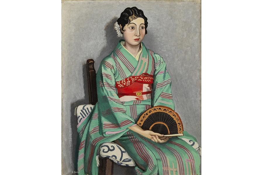 安井曾太郎《座像》1929年 油彩・キャンバス 個人蔵