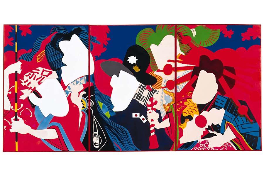 篠原有司男《女の祭》1966年 蛍光塗料、油彩、プラスティック・板 兵庫県立美術館蔵