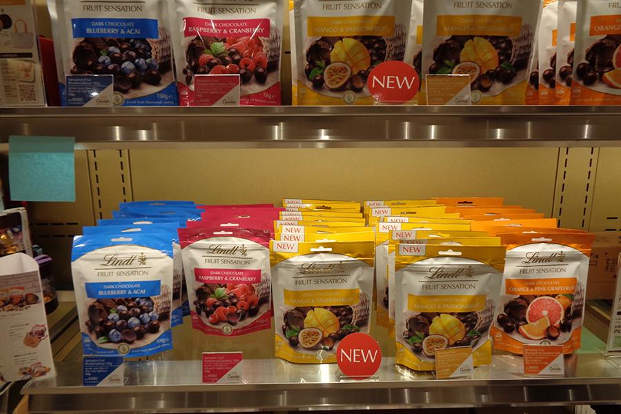 期間限定のサマーチョコレート。「センセーションフルーツ」シリーズ。新味「マンゴー&パッションフルーツ」など