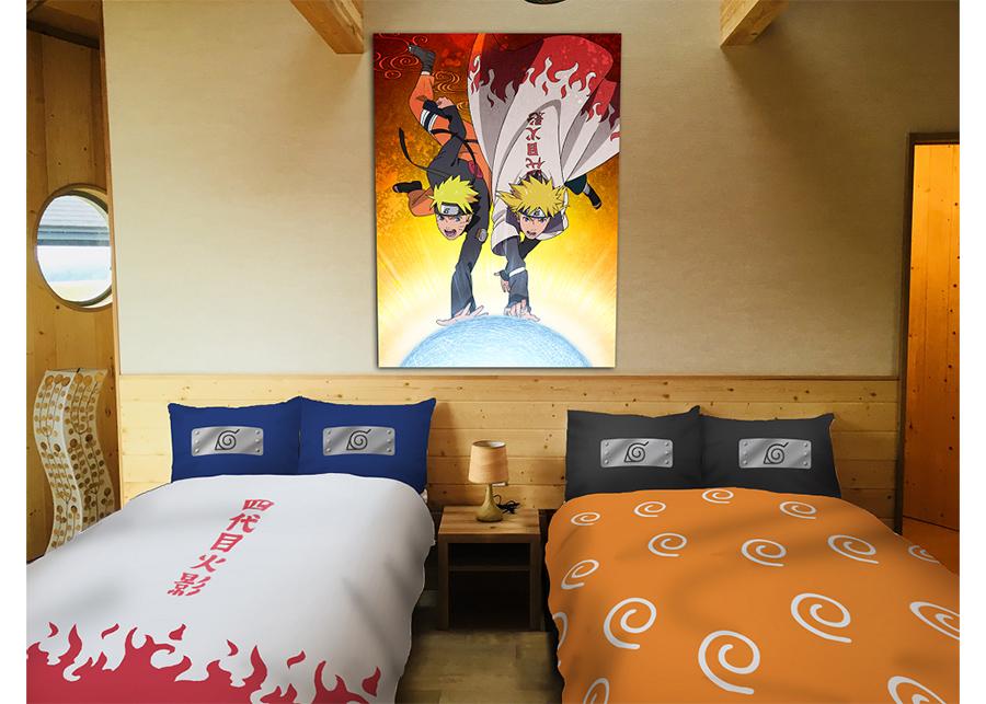 寝室では親子の共演。©岸本斉史 スコット/集英社・テレビ東京・ぴえろ