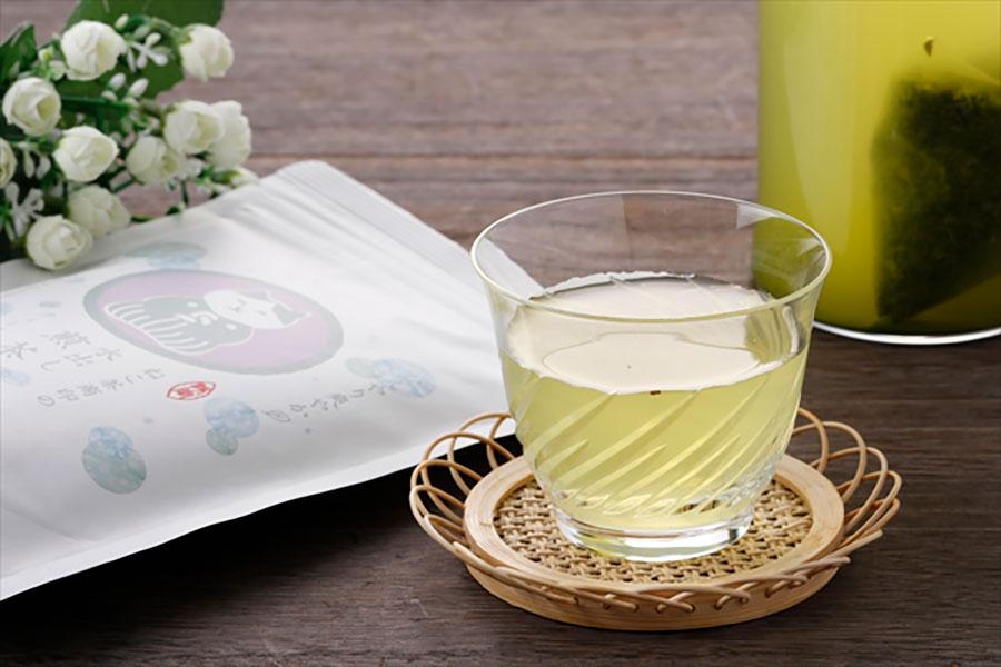 「ねこ茶商印の水出し用煎茶」(1080円)