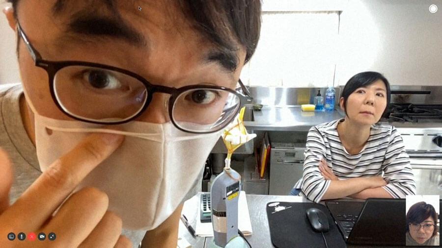石垣准教授が開発中のマスク(C)NHK