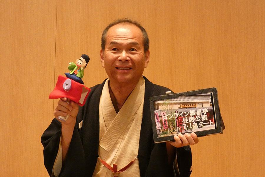 6月15日に開催された再開会見にて笑福亭仁智会長