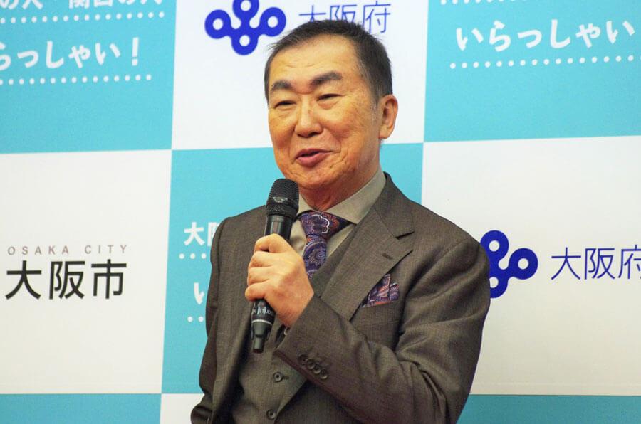 『大阪の人・関西の人 いらっしゃい!』キャンペーンで「いらっしゃーい」を披露した桂文枝(6月16日・大阪市)