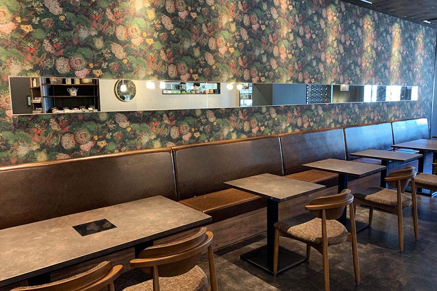 カフェ同様に、オリエンタルなかわいい空間でいただける