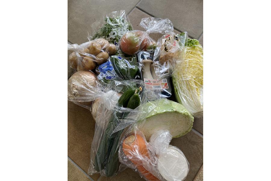 ハーフ野菜セット1500円が、ほぼ人との接触なしで買えました!